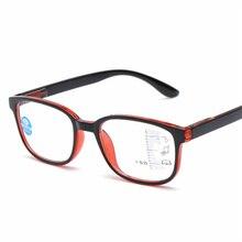 0421e4343bcf3 Das Mulheres Dos Homens Óculos de Leitura Multifocal progressiva Quadrado  Anti luz azul Óculos de Armação