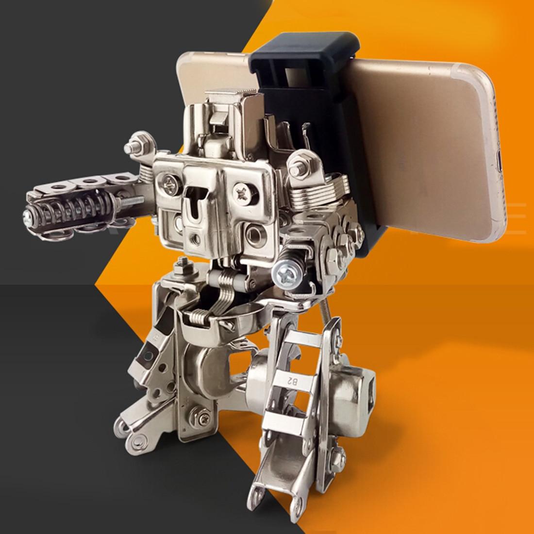 Diy 12 Cm Mecha Lucha Teléfono Ataque Juguete Altura Metal Móvil Figura Montaje Modelo Robot Gran HIEYD29W