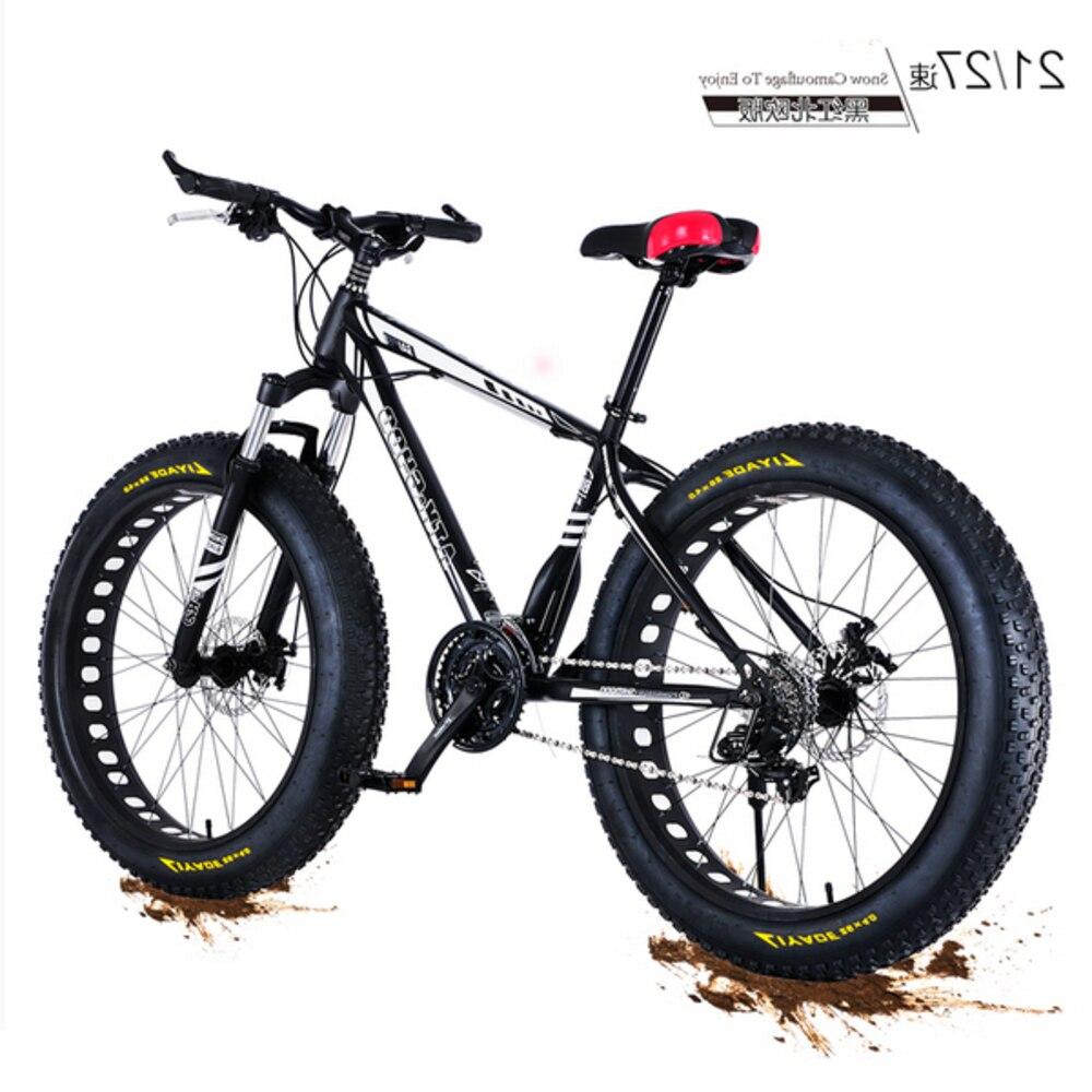 Nouveau x-front marque 4.0 gros pneu large 26 pouces 21/27 vitesse en acier au carbone VTT plage descente vélo motoneige Bicicleta