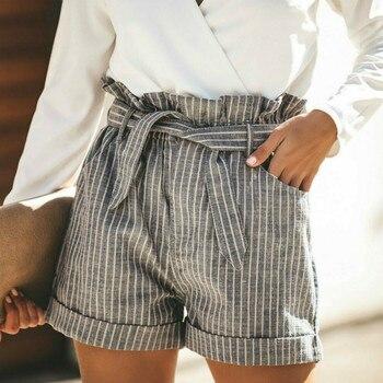 5fb91abbfb61 2019 última moda mujer señora Sexy Shorts verano Casual pantalones cortos  de cintura alta pantalones cortos de playa