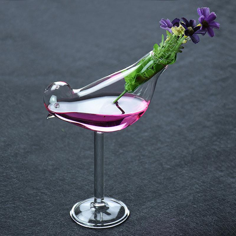 Innovation Birdie Shaped Cocktail Glass Personality Practical Molecule Smoked Glass Cup Bird Champagne Beautiful Goblet Glass in Cocktail Glass from Home Garden