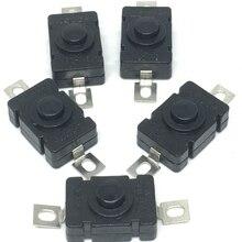 10PCS/Lot KAN-28 Push Button Switch 18*12mm 1.5A/250V Self Locking For Flashlight