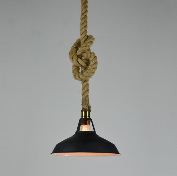 Creative Pendant Light Loft Personality Industrial Lamp Fashion Single Head Modern Country Vintage Style Lamp Rope creative personality rope chandelier american country vintage chandelier single head hall table lamp