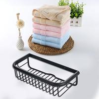 2019 Ins Wall Mounted Bathroom Shelf Organizer Shower Soap Storage Basket Case Antique Brass Rack