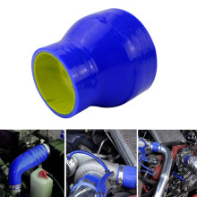 Silicone STRAIGHT REDUCER JOINER COUPLING 3 Ply 51mm/76mm Hose Intercooler Turbo Coupler Tube Intake Pipe Blue