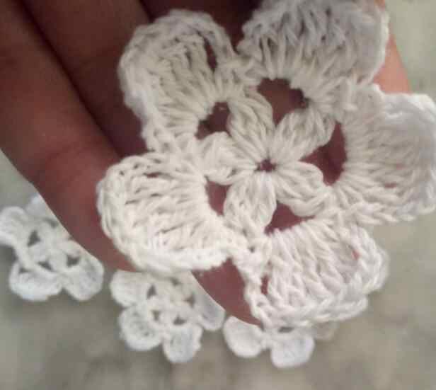 5 ซม. ผ้าฝ้ายถักโครเชต์ดอกไม้ลูกไม้ Applique Guipure ผ้า Patch เสื้อผ้าชุดเสื้อผ้า DIY อุปกรณ์เย็บผ้า