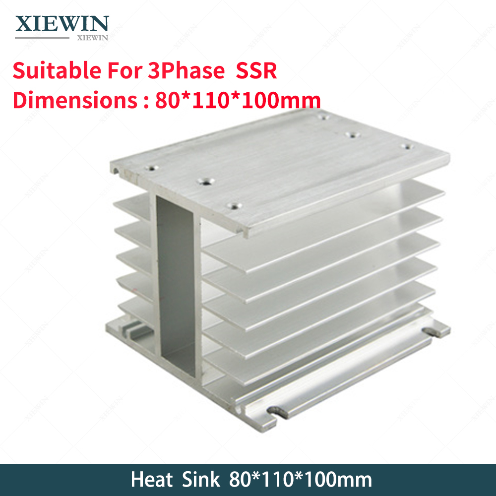 Free Shipping  3 Phase Heat Sink 80*110*100mm for SSR Solid State Relay H Type  radiatorFree Shipping  3 Phase Heat Sink 80*110*100mm for SSR Solid State Relay H Type  radiator