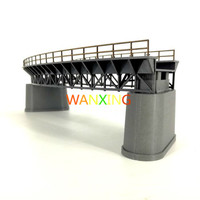1/87 Model Train Ho Scale Diy Curved Railway Bridge Building Plastic Sand Table Model Materials Toys For Children Free Shipping