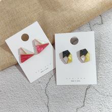 Korea Earrings Fashion Geometric Acrylic Color  Irregular Triangle Polygon 2019 For Women Summer