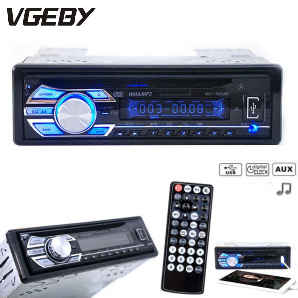 Écran LCD Portable télécommande autoradio Audio stéréo unité de tête lecteur CD DVD MP3 MP4 USB SD AUX-IN Radio FM 4 canaux