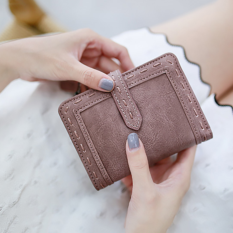 Summer Women Wallets Small Fashion Brand Leather Coin Purse Women Ladies Card Holders For Women 2019 Clutch Women Female Purse