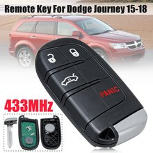 4/5 3+1/4+1 Buttons Fob Remote Key with Battery 433MHz For Dodge Journey 2015-2018 FCC ID: M3N-40821302