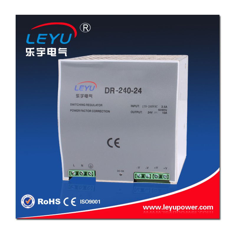 2016 Hot sell factory outlet DR-240-24 high quality SMPS Din Rail 240w 24V 10A power supply