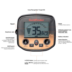 Image 5 - Handheld Metaaldetector LCD Display Metalen Locator Metalen Finder Ondergrondse Detector Goudzoeker Schat Metaal Detecteren Tool