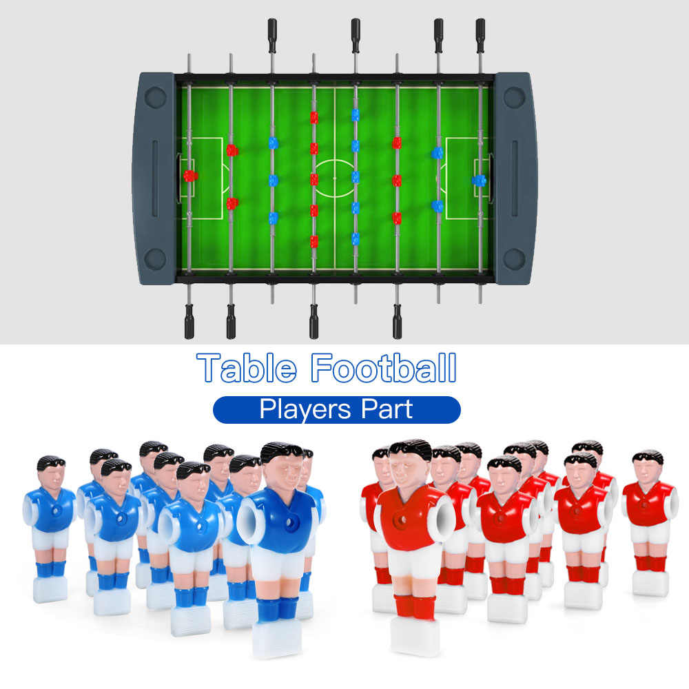 11Pcs De Mesa Máquina De Futebol Jogos de Futebol de Mesa Mini Boneca Boneca 15.8 milímetros Caliber Atleta Foosball Jogador Parte do Jogador de Futebol