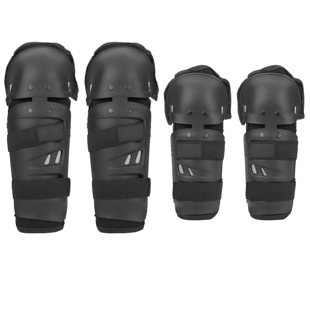4Pcs Elbow Knee Shin Guard Pads Kit Motorcycle Motocross Racing Protector Armor