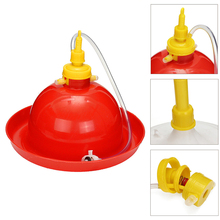 1pc Pet Automatic Poultry Drinking Waterer Chicken Duck Goose Backyard Dispenser Equipment