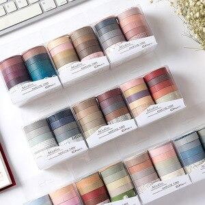 10Pcs/Set Cute Grid Washi Tape SetDecorative Adhesive Tape Kawaii Masking Tape For Kids DIY Scrapbooking Diary Photos Albums