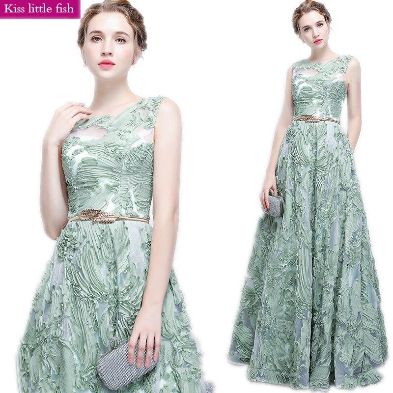 100% Vero Il Trasporto Libero 2019 Nuovo Lungo Prom Dresses Vestido De Festa Longo Spedizione Inviare Cintura