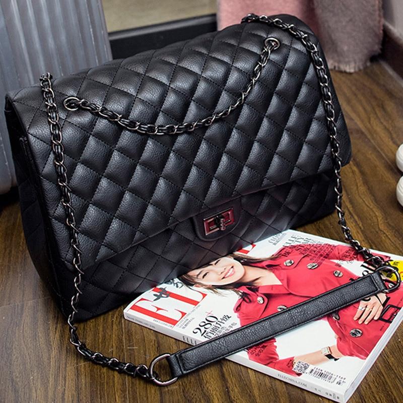En Designer Femme Cuir Sac Grand Femelle Diamant Bandoulière Main Kajie Sacs Black Pu Femmes Luxe De Treillis À Voyage 0Cq5p
