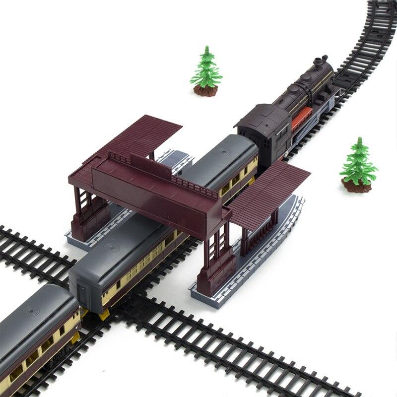 Elektrische Racing Rail Auto Kinderen Spoor Trein Model Speelgoed Baby Railway Trein Racing Road Transport Building Slot Sets Speelgoed Kids - 2