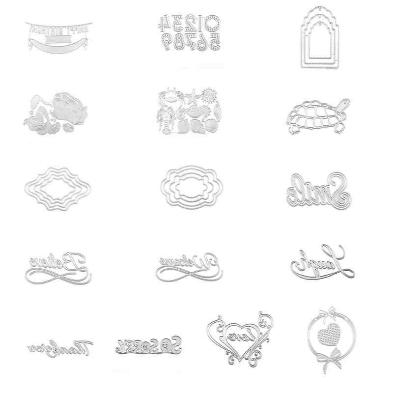Metal Cutting Dies Circle Frame Stencils For DIY Scrapbooking Photo Album Embossing Card Wedding Cards Die Cuts Handmade