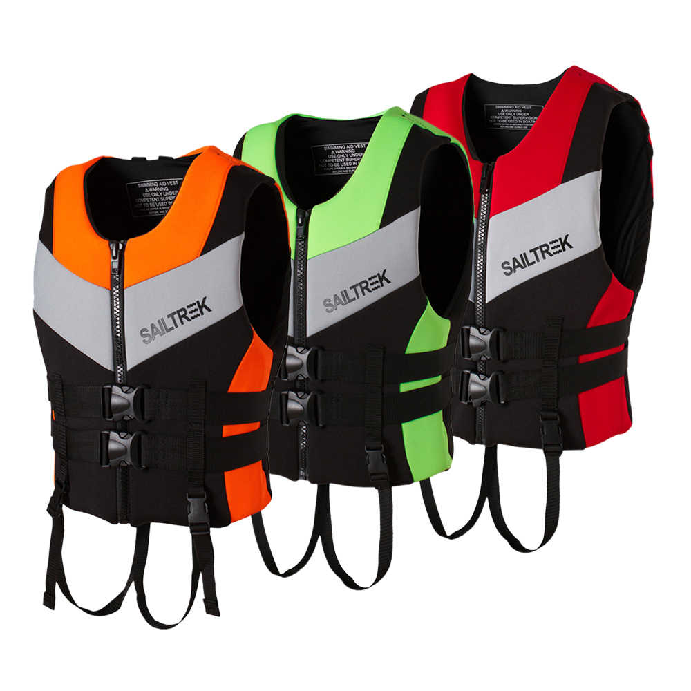 2019 NEW Water Sports Fishing Vest Adult Life Jacket Neoprene Life Vest Kayaking Boating Swimming Drifting Safety Life Vest