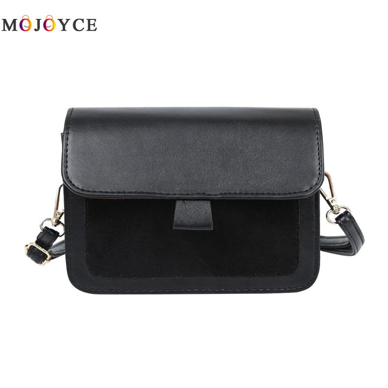 Young Girls Scrub PU Leather Crossbody Bag Messenger Handbags Fashion Women Small Shoulder Bags
