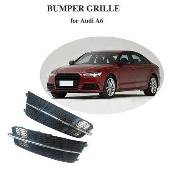 Nebel Lampe Grill für Audi A6 Sline S6 2018 Verchromte Linie Blesh Mesh frontschürze nebel licht grill