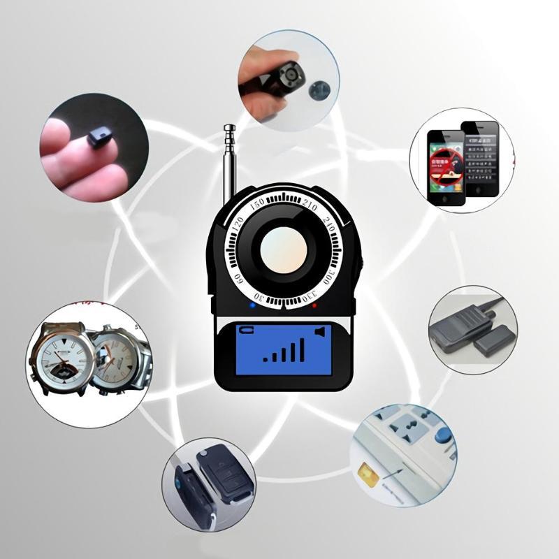 CC309 Wireless Signal Finder Anti Candid Full Range Camera Detector Protable GSM Sensor Mini Consealed Camera