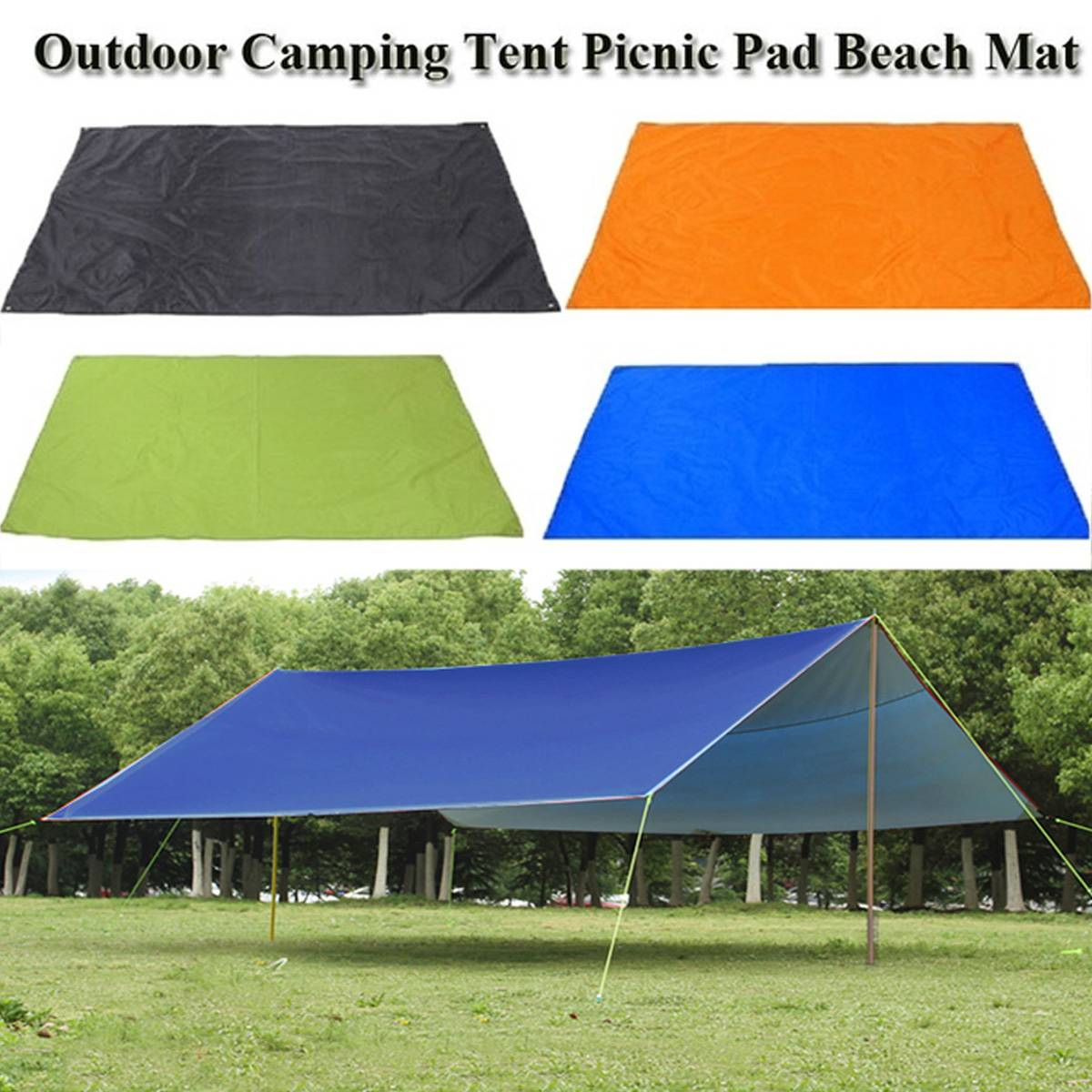 Canopy Sunshade Hammock Awning SUN-SHELTER Tarp Waterproof Rain Fly Garden Outdoor Beach