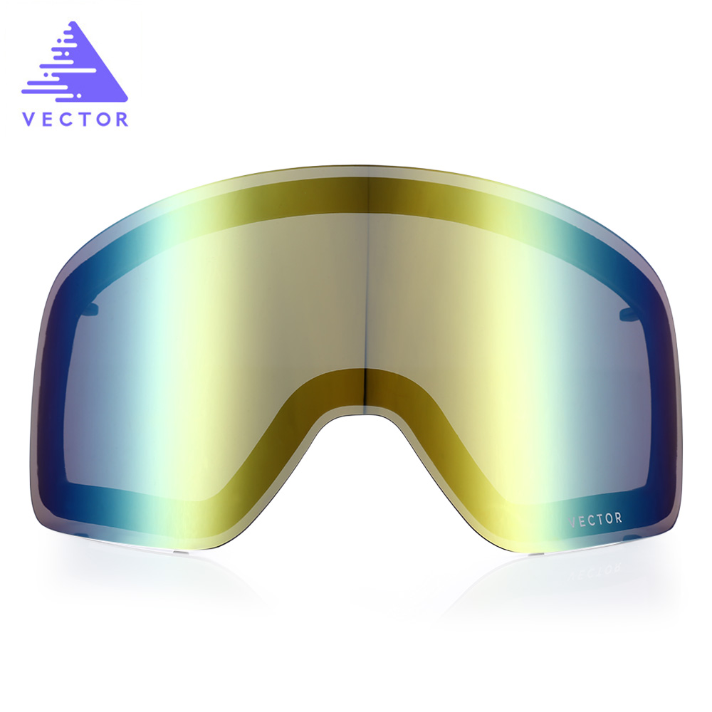 VECTOR Skiing Eyewear Double-layer Anti-fog Original Replacement Lens for Ski Goggles