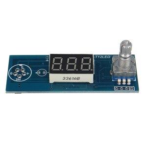 Image 2 - Quente diy unidade elétrica de alta qualidade capacidade básica prático digital estação ferro solda controlador temperatura kits t12 lidar com