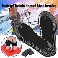 e3499aac9b7b9e 1 para podgrzewanych wkładek zasilany z baterii elektryczny buty Boot zimny  śnieg stóp cieplej zima z