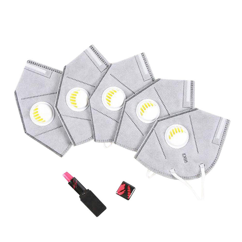 MISSKY 5pcs/set Disposable Activated Carbon Anti-smog Dustproof KN95 Respirator