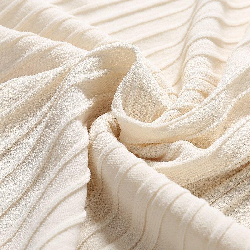 2019 spring new arrival knitted skirts pleated skirts overknee length knitting skirts European and American women