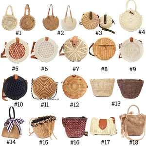 2019 Women Vintage Beach Straw Bag Ladie