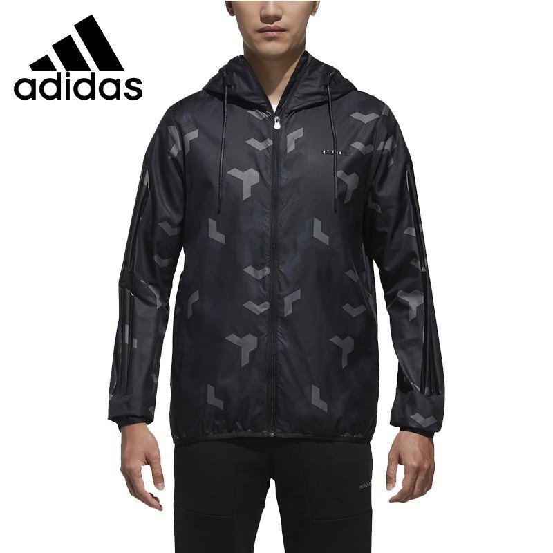 <font><b>Adidas</b></font> Neo <font><b>Men</b></font> Running Jacket Sports Wind-proof Hoodies Coat Sport Overcoat#DM2156 image
