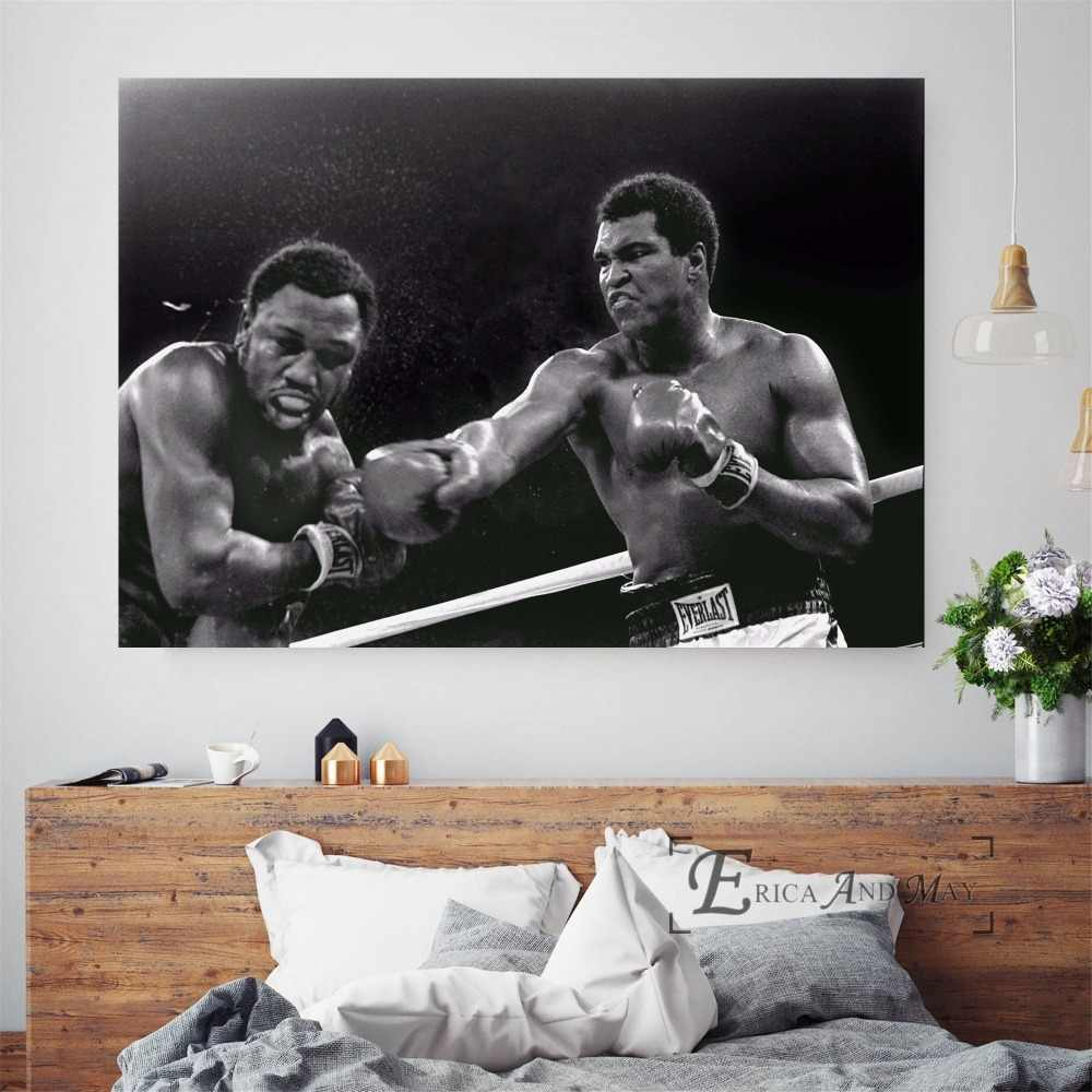 Vintage Muhammad Ali Boxing Photo On Sale Poster Wall Painting Living Room Abstract Canvas Art Pictures For Home Decor No Frame