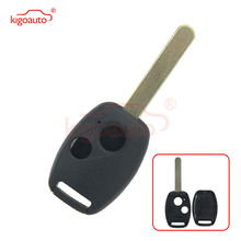 Kigoauto No chip room Replacement Remote Key Shell For Honda Accord CRV Fit Civic Pilot Odyssey Key Case 2 Button Uncut Blade dwcx 2buttons remote flip folding key case shell fob fit for honda crv accord civic pilot fit 2007 2008 2009 2010 2011 2012 2013
