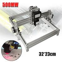 500mW 32x23cm DC 12V Mini DIY Desktop CNC Carving Laser Engraving Engraver Machine Wood Cutter/Printer Kit + Laser Goggles