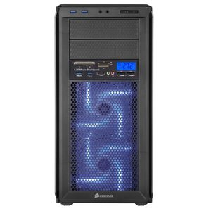 """Image 3 - Multi functional Media Panel 5.25"""" Computer Front Dashboard with SATA USB Microphone/Headphone Audio Port Integrated Card Reader"""
