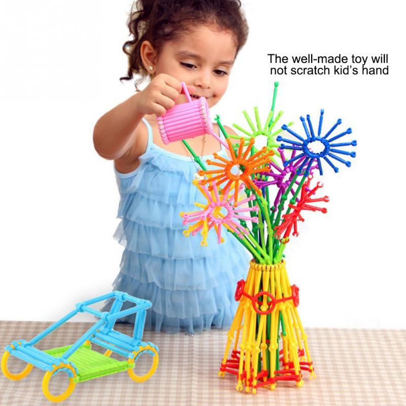 800 pièces/ensemble géométrie Puzzle bâtiment en cliquant sur briques blocs jouet pour enfant enfants apprentissage précoce jouets intelligents mathématique