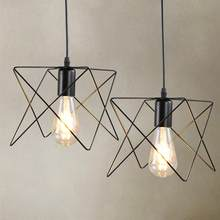 Retro Birds Cage Pendant Lights Hanging Lamp Light Fixtures Living Room Kitchen Indoor Luminaire Decor(China)