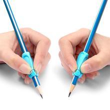 Силиконовая ручка для карандашей эргономичный тренажер для письма коррекция осанки 3D шаблон дизайн дети дошкольники дети палец ручка