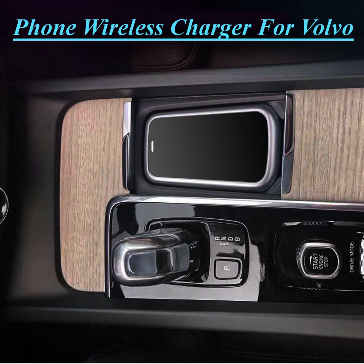 MG-SPA Car Phone Charging Qi Wireless Charger For Volvo XC90 S60 XC60 S90 C60 V60 For Samsung Note 9 S9 S8