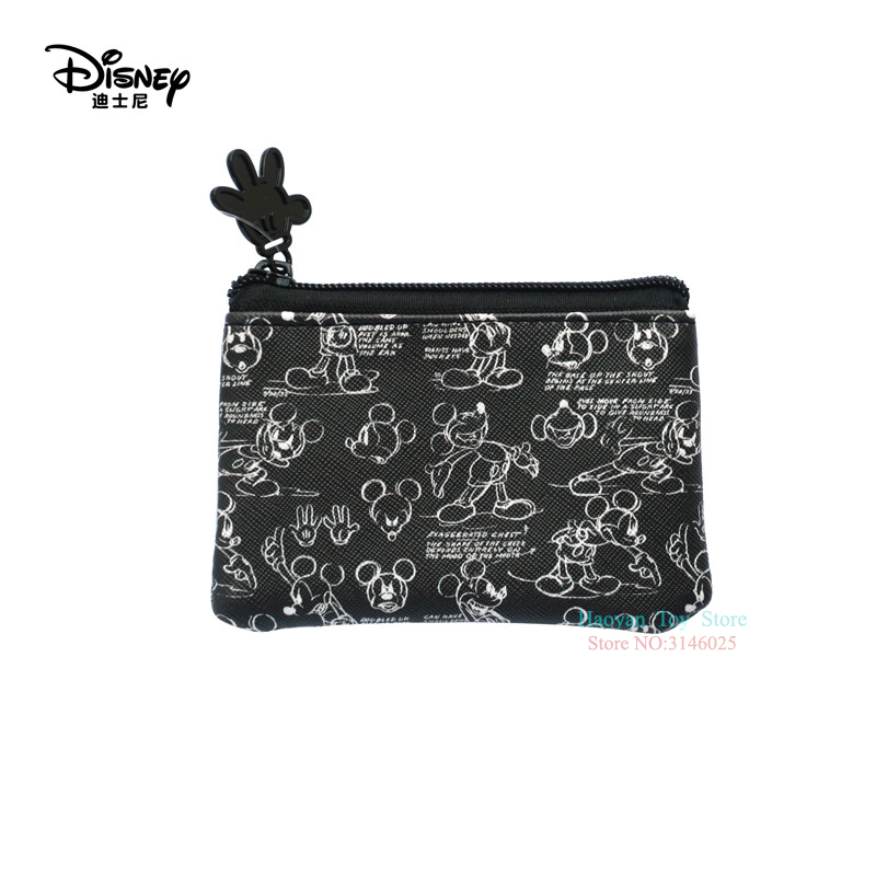 Genuine Disney Classic Black Mickey Mouse Multi-function Women Bags Wallet Purse Baby Care Bag Fashion Mummy Bag for Girls Gifts(China)
