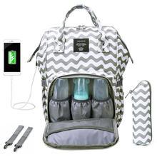 USB Lade Mummy Windel Taschen Wasserdichte Mutterschaft Handtasche Große Kapazität Mutter Reise Rucksäcke Baby Windel Pflege Taschen Pflege
