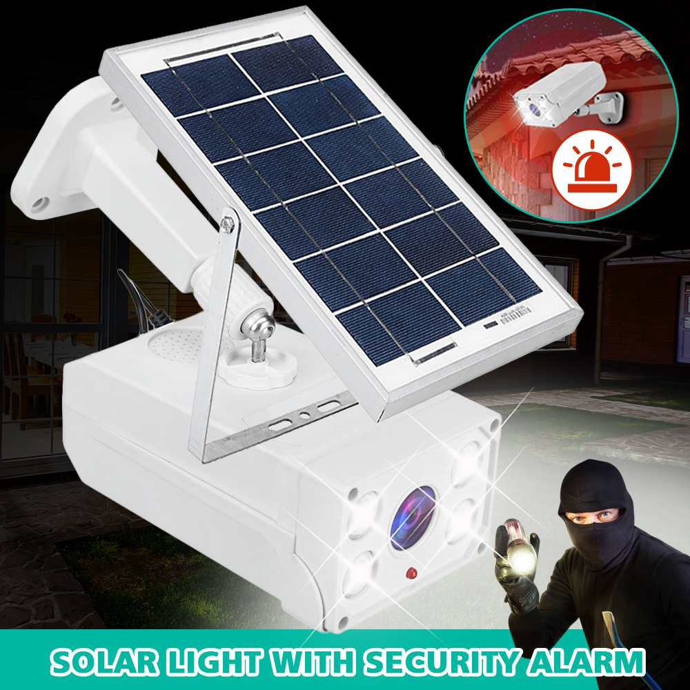 Waterproof PIR Motion Sensor Solar Powered Light Led Solar Lights Garden Security Lamp Outdoor Street Light Security Voice Alarm