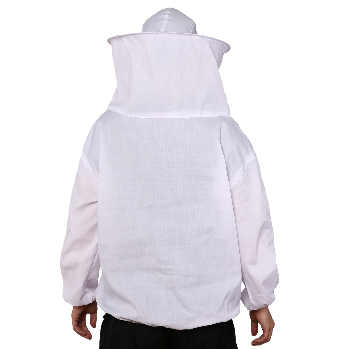 Jacket Smock-Equipment White With Long-Sleeve Gloves 75cm-Length Veil-Suit Protective